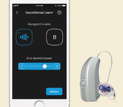 Widex SoundSense mit Hörgerät