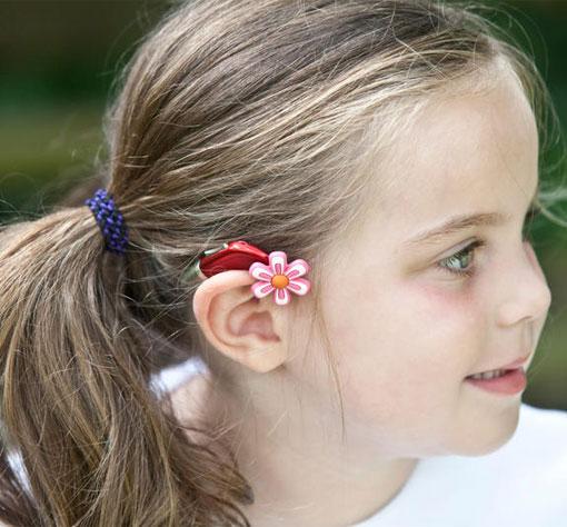 Spermienbedecktes Hörgerät für Mädchen