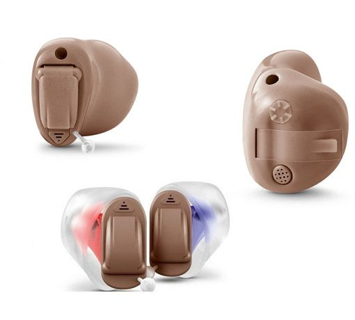 Intuis 3 in verschiedenen Im-Ohr-Bauformen