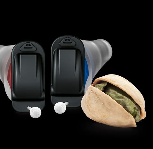Silk NX Hörgerät im Größenvergleich
